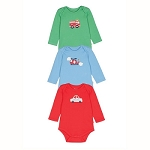 Frugi special 3 pack bodysuits - Transport (newborn)