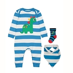 Frugi Bubbly Baby Gift Set harbour dino (damaged box)