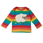 Frugi Bobby top - Happy rainbow Sheep