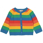 Frugi happy day rainbow cardigan