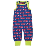 Maxomorra fire truck playsuit (dungarees)