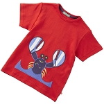 Piccalilly Red Lobster Short Sleeve t-shirt