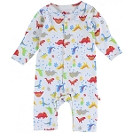 Piccalilly Footprint dinosaur foot print romper