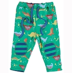 Piccalilly  green dinosaur reversible trousers
