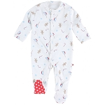 Piccalilly gingerbread footed sleepsuit