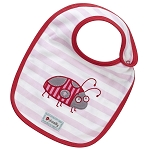 Piccalilly Reversible Bib - Lady Bug Applique