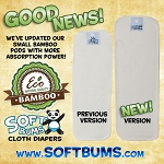 Soft bums small easy prep bamboo pod