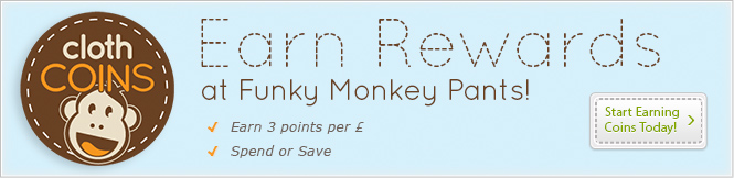 Cloth Coins - Earn Rewards at Funky Monkey Pants!