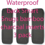 Smart snugs waterproof back bamboo charcoal inserts pack of 3