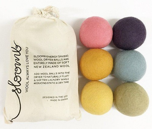 Sloomb wool dryer balls pack of 6