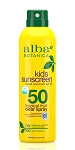 Alba botanics kids suncreen spray spf50