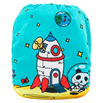 Alva baby Print pocket nappy with bamboo insert