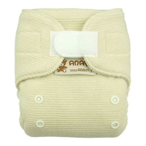Anavy newborn wool cover - snaps or velcro