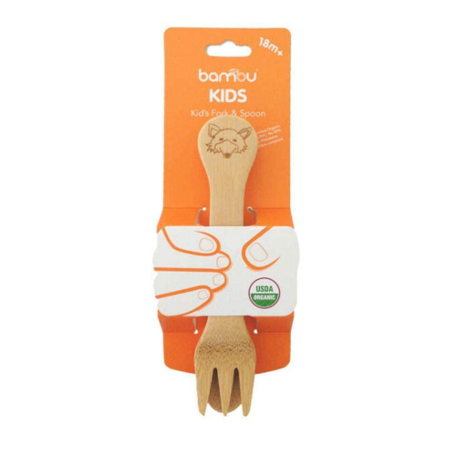 bambu kids fork and spoon