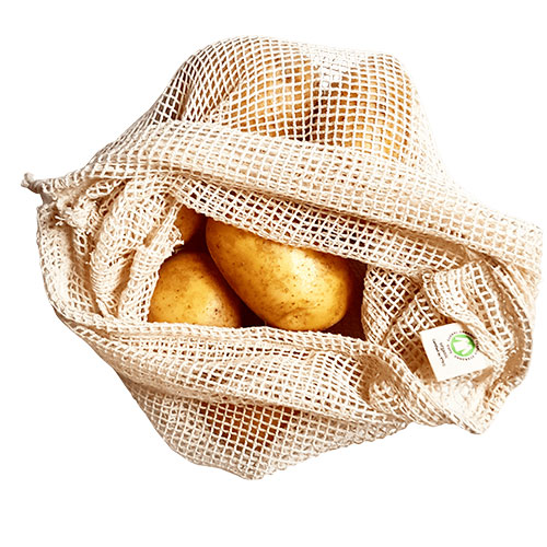 Organic cotton mesh bag ideal for loose fruit and veg
