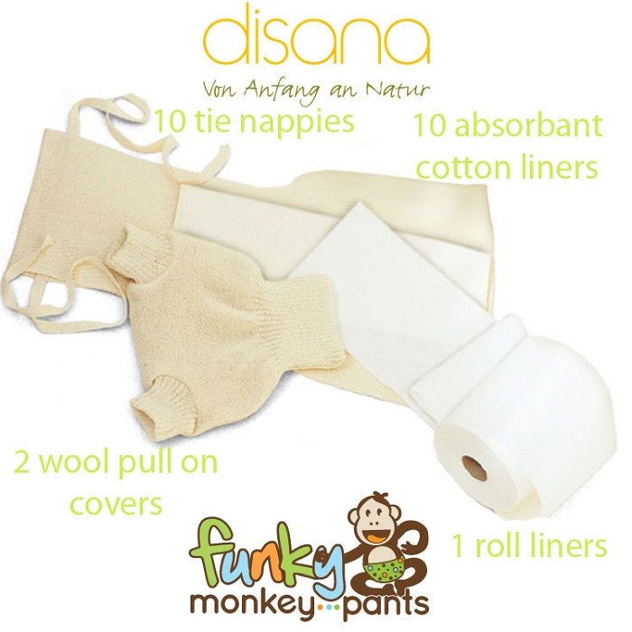 Disana tie nappy pack