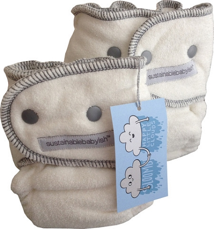 Sloomb happy little clouds fitted nappy