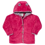 Kite Lulworth hoodie - pink bear fleece