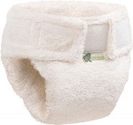 little lamb organic cotton fitted nappy  (3 pack)