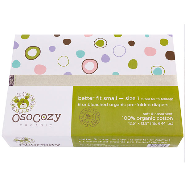 Osocozy organic cotton better fit prefolds