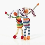 Pebble Stripey bunny rattle