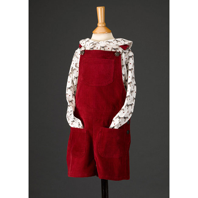 Pigeon dungarees shorts - ruby red