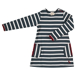 Pigeon breton dress blue and white