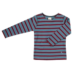 Pigeon breton long sleeve top - blue/red
