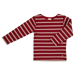 Pigeon breton long sleeve top - red/string