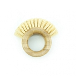 Ring Shaped Bamboo Brush with Sisal Bristles