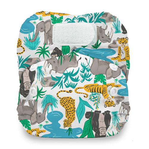 Thirsties newborn natural all in one nappy - hook and loop