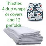 Thirsties duo hemp prefold  and cover/duo wrap set