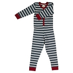 Pigeon organics onesie stripe (red, blue or grey)