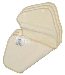 Motherease snap in absorbant liner - bamboo 3 pack