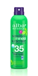 Alba botanics sensitive suncreen spray spf35