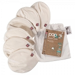 Close reusable breast pads in bag (3 pairs)