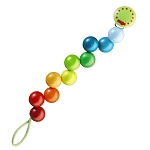 Haba rainbow pearls pacifier chain