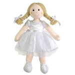 Imajo rag doll - bridal doll fair hair