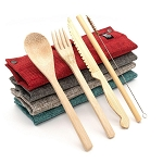 Jungle Culture bamboo cutlery set