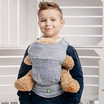 Lenny lamb doll carrier denim grey