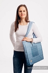 Lenny lamb shoulder bag - Ombre light blue