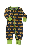 Maxomorra little car rompersuit with buttons