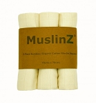 MuslinZ 3 Pack Bamboo - Organic Cotton Muslin Squares 70cm