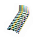 Rainbow angled straws single and pack of 4