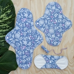 Imse vimse cloth pad and tampon trial kit (garden or black)