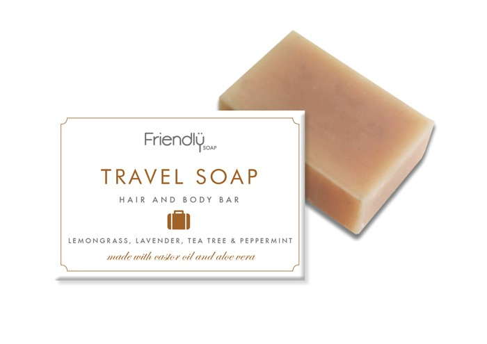 Friendly soap - Travel soap for hair, body, shave and laundry