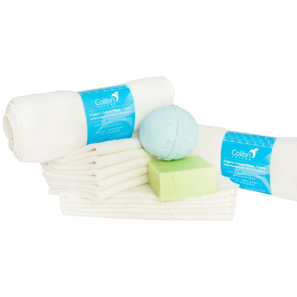 Colibri organic cotton washcloths (pack of 5)