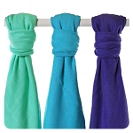 xkko bamboo colour muslins (3 pack)