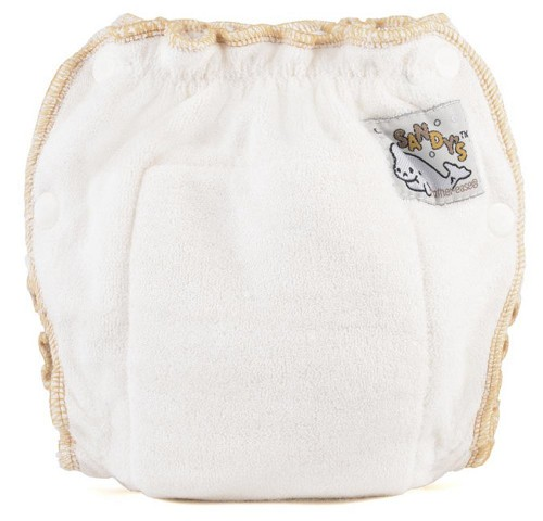 Mother-ease Sandys fitted bamboo nappy