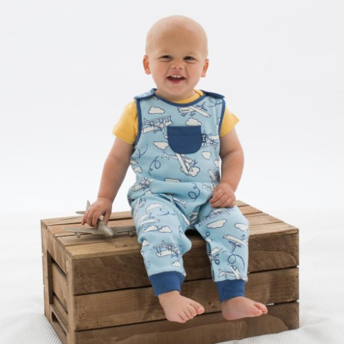 Kite Fly high plane dungarees